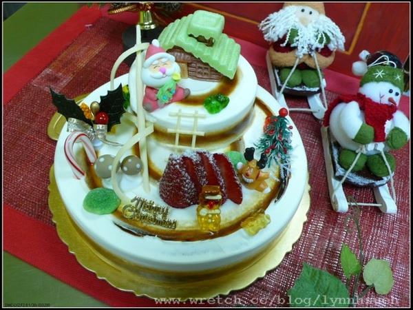 96.11.27聖誕雙層蛋糕-老師作品