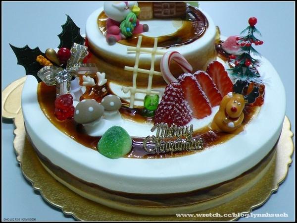 96.11.27聖誕雙層蛋糕-我的作品