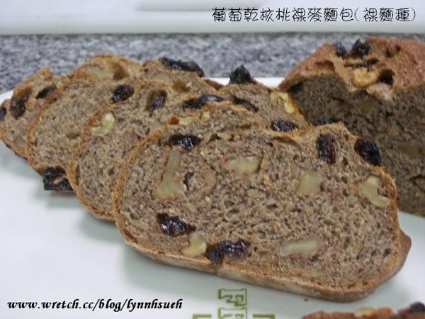 葡萄乾核桃裸麥麵包(裸麵種)