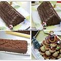 巧克力屋頂蛋糕及聖誕泡芙塔