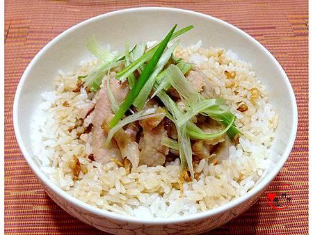 10淋在米飯上
