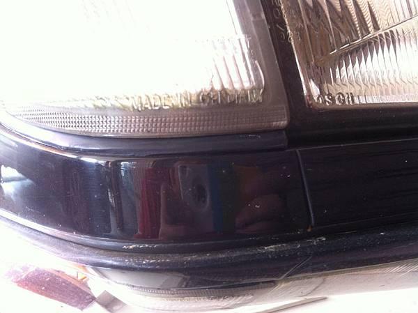 方向燈防水膠條的完整性
