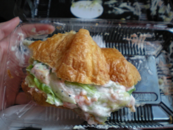 中午的餐點-龍蟹堡