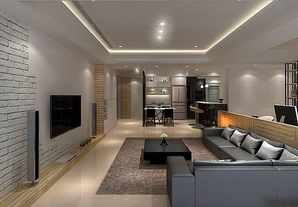 客廳設計.系統家具.工業風設計裝潢.北歐風裝潢設計