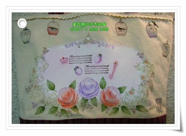 玫瑰彩繪袋-5