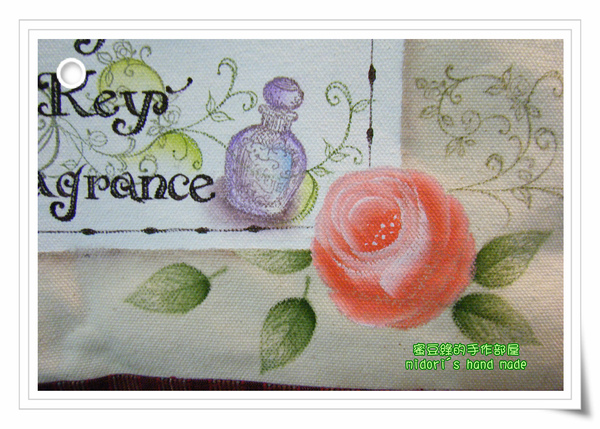 玫瑰彩繪袋-3