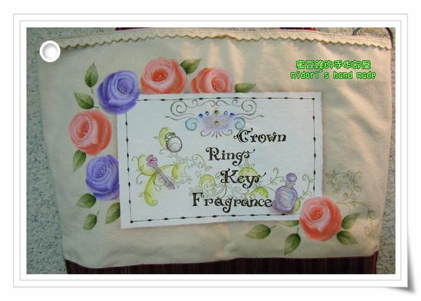玫瑰彩繪袋-2