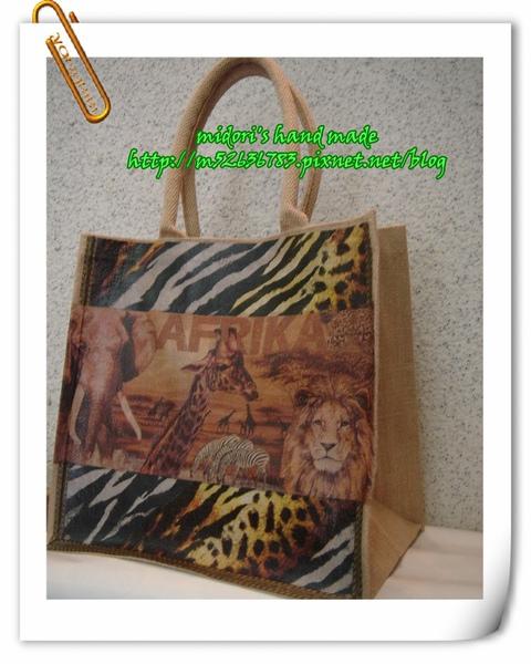 麻布大方形購物袋(寛底)4