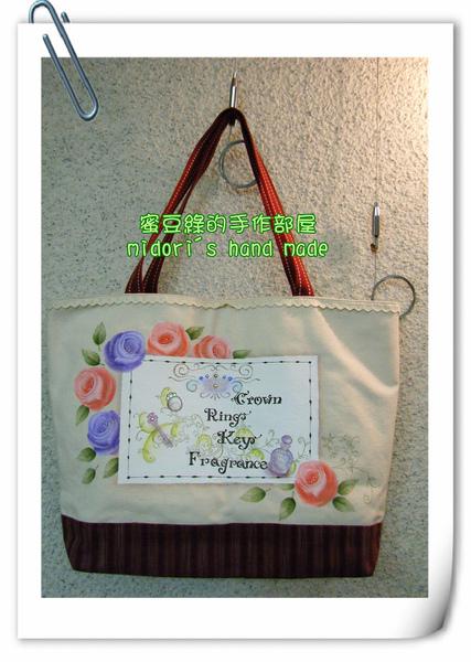 玫瑰彩繪袋-1