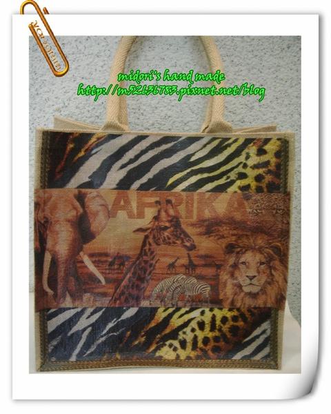 麻布大方形購物袋(寛底)2