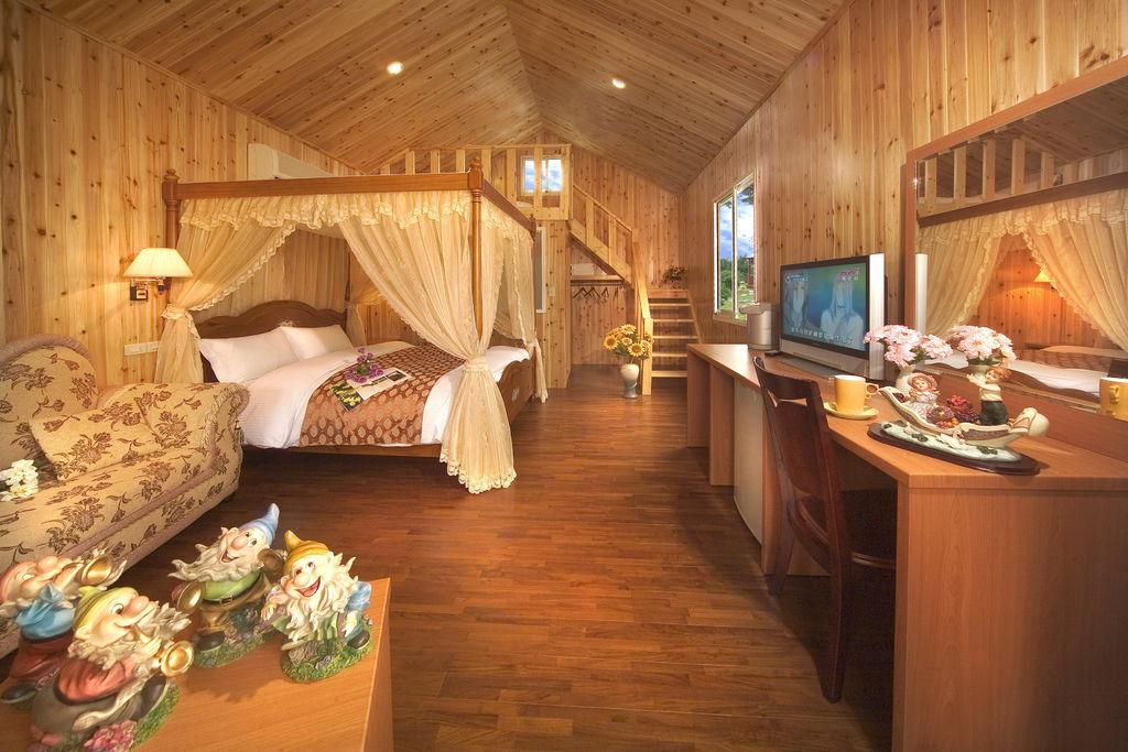 4人獨棟小木屋內觀-森林公主