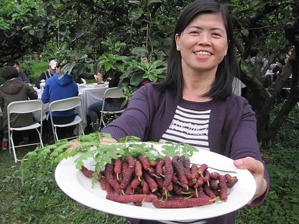 稻田裡餐桌的參餐會有機食材