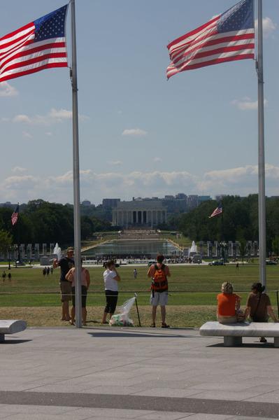 遠方的林肯紀念堂