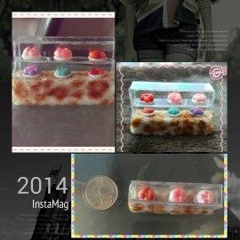 迷你化的蛋糕櫃真是打動人心~ 真想吃下去呢~哈哈~