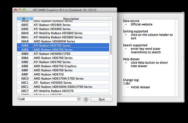 ATI:AMD Graphics ID List