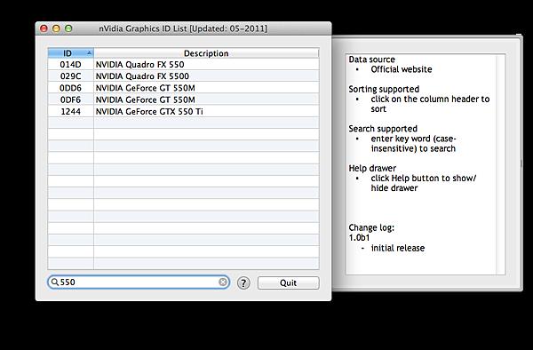 nVidia Graphics ID List