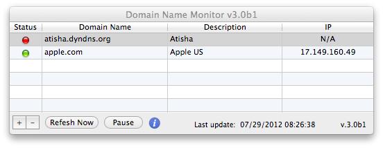 Domain Name Monitor