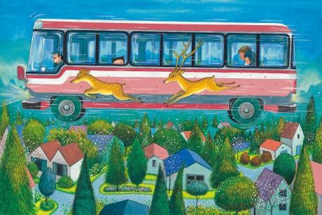 《星空》的飛天公車畫面