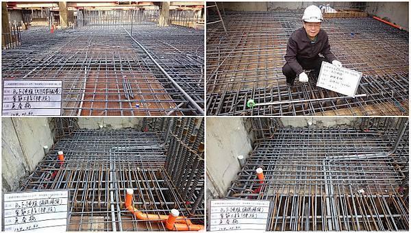 32-104130B2F上下層鋼筋及配管