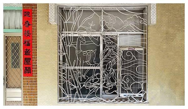 圖樣繁複的手工窗花,頗具藝術氣息