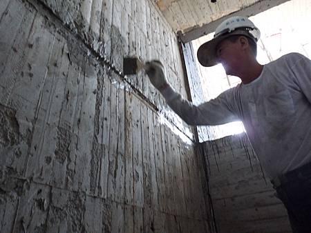 10/07 10F樓層接縫防水施作