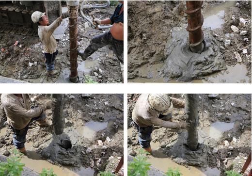 鑽掘,地層,套管