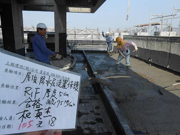 01-18 R1F屋頂防水層澆置保護