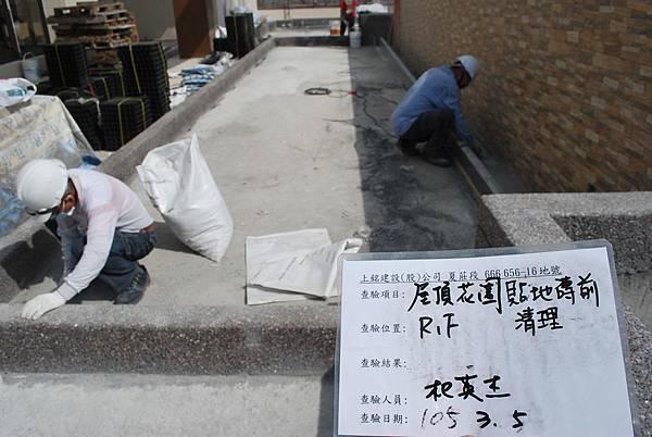03-05 R1F花園貼地磚前清理