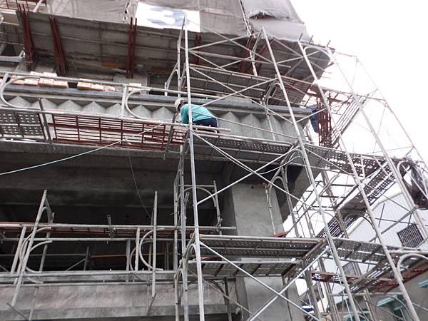 大樓,外牆,建造過程