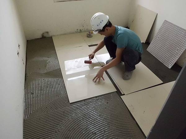 貼磚,建案,過程