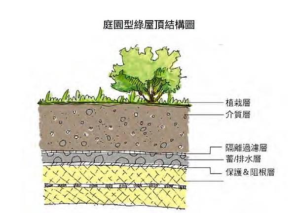 庭院,綠屋頂,植栽,樹,示意圖,分解圖,綠建築,綠化