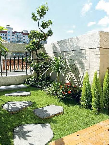 庭院,石頭,灌木,庭院,花園,頂樓花園,空中花園,頂樓綠化,綠屋頂,綠建築