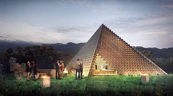 台中,金字塔,積木