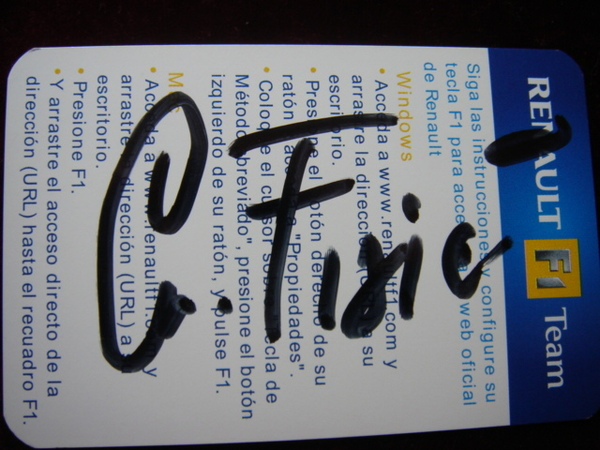FISICO 的親筆簽名