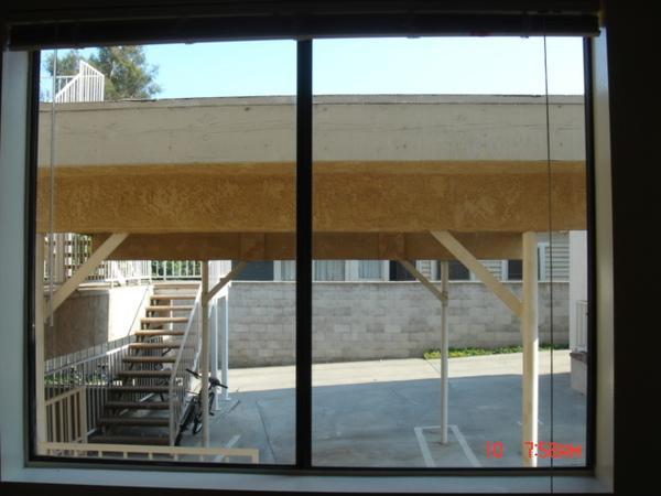 從客廳的窗戶望
