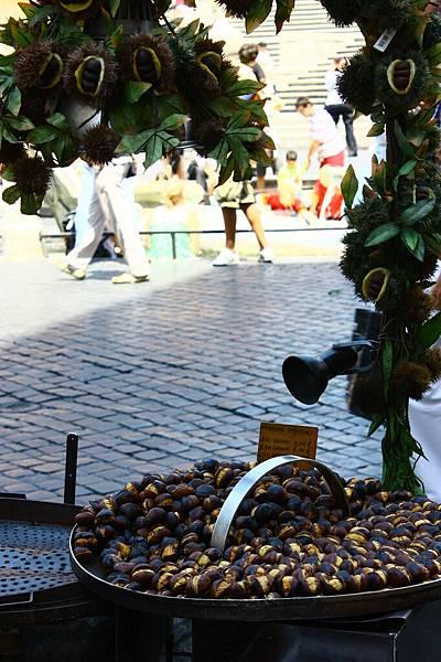 西班牙廣場上的炒栗子