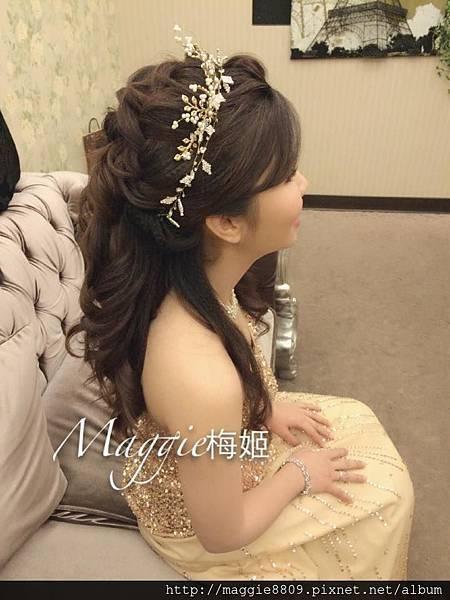 [新秘作品]新娘造型長髮.挽髮鬆鬆自然造型