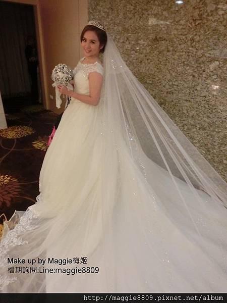 新娘白紗進場長頭紗