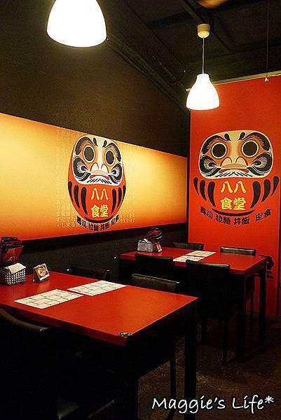 板橋日本料理推薦【八八食堂】塞好塞滿的天使紅蝦丼/還有可愛的毛毛蟲卷。捷運板橋站美食
