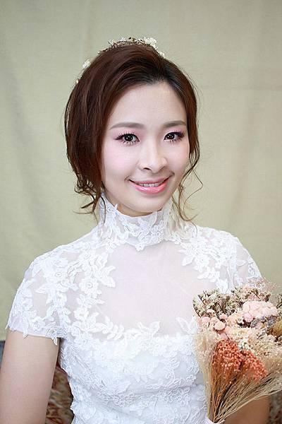 台北新秘綠茵@五款短髮新娘造型分享 新娘秘書
