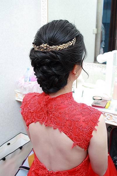 黑髮新娘造型推薦-台北新秘綠茵 新娘秘書