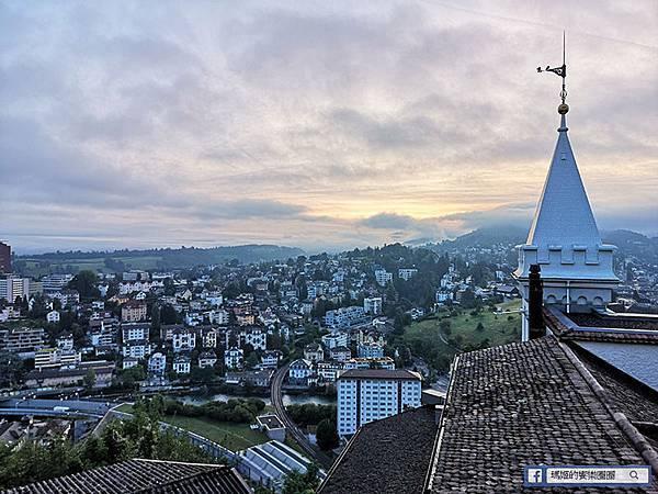 瑞士琉森住宿【Chateau Gutsch Hotel】琉森湖景城堡飯店/英國維多莉亞風湖景景觀房間