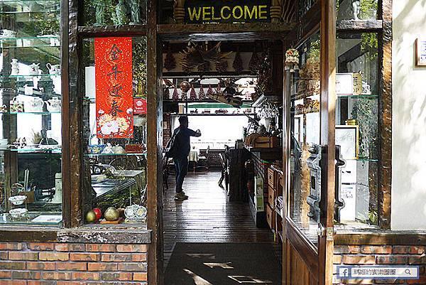 清境咖啡廳【清境來福居民宿】清境最美玻璃屋咖啡廳/北德都鐸式鄉村風糖果屋/網美必訪咖啡廳