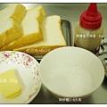 黑糖奶油厚片吐司需要準備材料