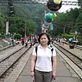 2004在苗栗勝興車站的Maggie