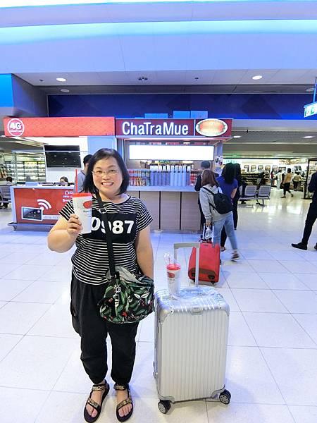 1/11 前往做SRT City Line的機場內途中有賣泰式奶茶 $40