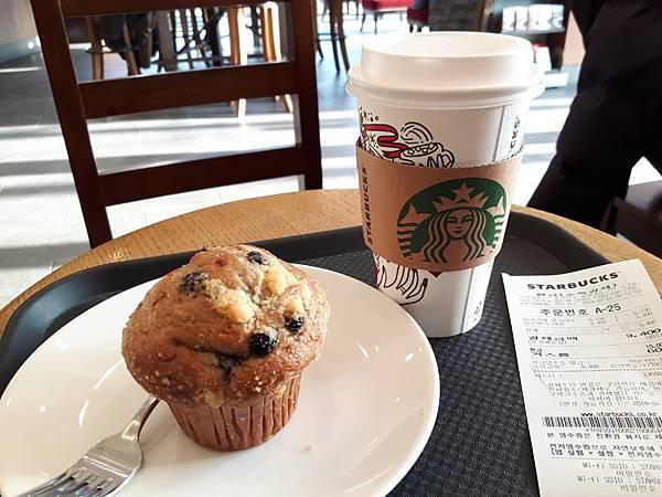 20180102 D-5 前往慶州前在Starbucks 用餐