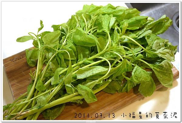 2011.07.13 小福星的莧菜泥 (1).JPG