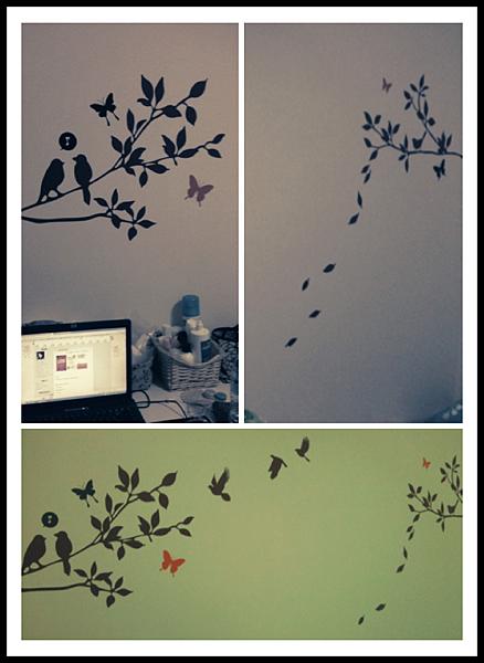 我租屋房間的壁貼