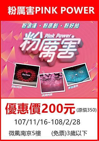 Pink power粉厲害展~展覽優惠門票200元